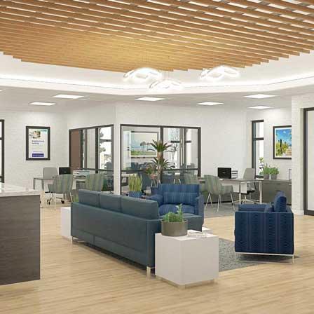 private bank interior design